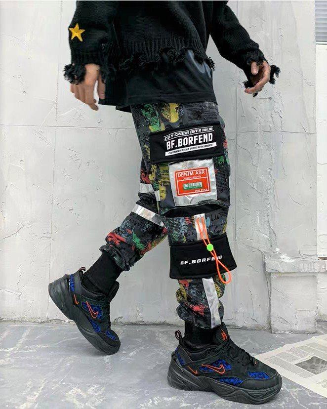 マルチカラーコットンカーゴジョガーパンツの画像5